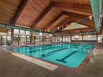 Take a swim no matter the weather in the indoor pool