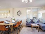 The open plan kichen, dining and family room, the stunning heart of the house!