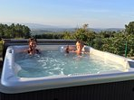 Hot tub looking over the beautiful Lousa valley