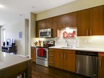 Gourmet kitchen with updated stainless steel appliances