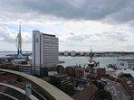 Balcony View, Gunwharf Quays is just under a ten minute walk away