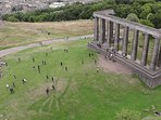 Our favourite place in Edinburgh is Calton Hill, only a 10 to 15 minute walk up from the apartment.