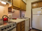 Fully Equipped Kitchen Has Everything You Need To Cook A Mal If You Desire To Do So !..