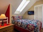 Loft Queen Bedroom 32 in TV  Watch The Moon & Star's At Night... So Romantic ! New Mattress