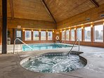 Indoor Heated  Pool 2 Hot Tubs only 1 shown  in picture's