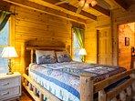 Queen bed in master suite