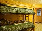 Bunk beds in downstairs bedroom