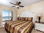 King size bed in the master bedroom -very comfy! Don't forget th