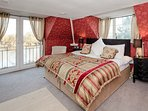 Master suite with Balcony and amazing views of the River Severn .