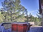 After a day of skiing, you'll look forward to soaking in the hot tub outside on your private wrap around deck.