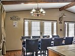 Gather with your guests at this stunning kitchen table to feast on delicious home-cooked meals.