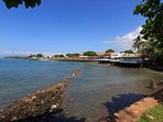 Two blocks from the house, from the Lahaina Library lawn