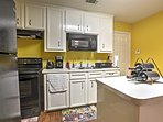 The chef of the group will love the kitchen, which is complete with all the necessary cooking appliances.
