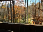 Great view from the covered porch!