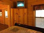 TV in the bedroom!