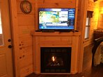 Flat screen TV and Gas Fireplace!