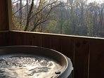 Hot tub with a great views!