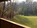 Great View of Meadow from the covered porch!