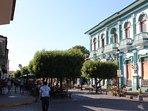 Calzada Street just one block away. Cafes, Restaurant and main atractions
