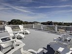 Huge Rooftop Porch with Lots of Seating & Views