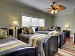 Huge Twin Bedroom with Four Twins and Bath