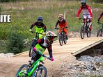Family flow trails provide feature rich learning environments, encouraging controlled trail speed.