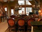 Classic mountain decor and modern amenities