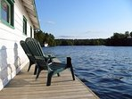 Dock by boat house