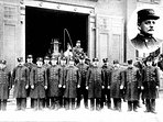 Fire company in front of our building, circa 1913.