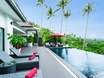 Plenty of space to spread out with friends pool side