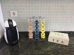 Café de cortesía + té