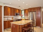 Fully Equipped Kitchen with Mahogany Cabinets