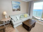 Living room with Great Gulf Views