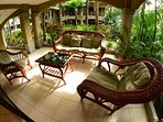 Nice terrace with garden view