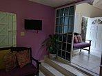 View from bedroom to living room / entrance door