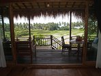 Far reaching views all around.Enjoy the sea view and listen to the waves, subak and wildlife!