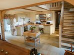 Fabulous farmhouse kitchen that accommodates 12 when both barns are booked together