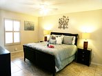 "Master Bedroom with king bed, ensuite, closet & 50"" LCD TV"