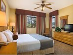 At the end of the day, settle in for a peaceful-sleep in the master-bedroom's king-bed