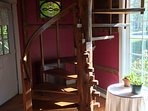 Hand made spiral stair case.  You will love the workmanship