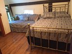 Queen bed and twin day bed in Bedroom 3
