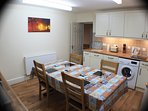 Isygraig  has a large kitchen with a washing machine etc..etc..