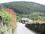 The lane from Isygraig down into the village ..a five minute walk from the pub ,cafe and shop .