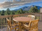 Take in breathtaking views of the Arizona highlands on the spacious balcony