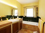 The master en-suite with bath, separate shower and toilet