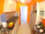 Bright modern kitchen.