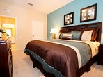 King Bedroom w/Flat Screen TV - View #2