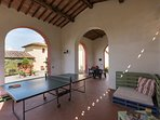 Communal area with tennis table