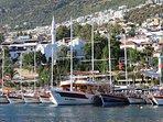 Kalkan harbour & town