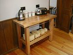 Kitchen facilities for coffee and tea